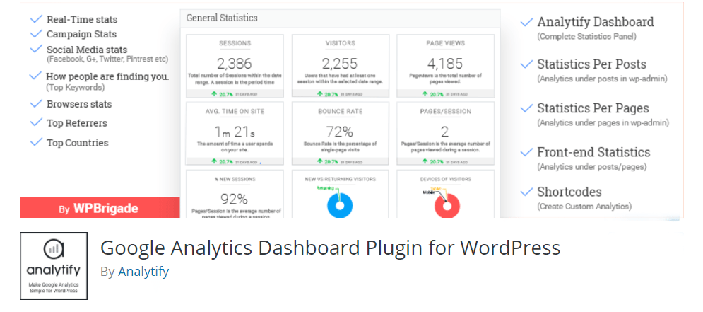 Best Google Analytics WordPress Plugins for 2017